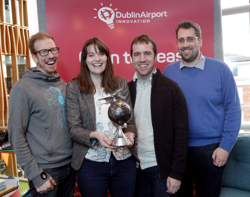 Dublin Airport had fun at Travel Meets Big Data, John Lyons, Katie O'Leary, Shane Teehan and David Belton